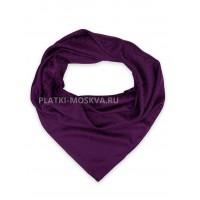 Платок Burberry шелковый фиолетовый однотонный 399-4
