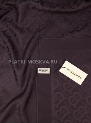 Платок Burberry шелковый темно-коричневый однотонный 399-9