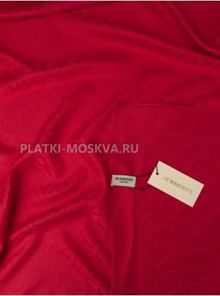 Платок Burberry шелковый красный однотонный 399-3