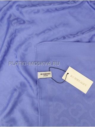 Платок Burberry шелковый синий однотонный 399-6