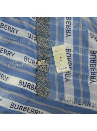 Палантин Burberry голубой 4101