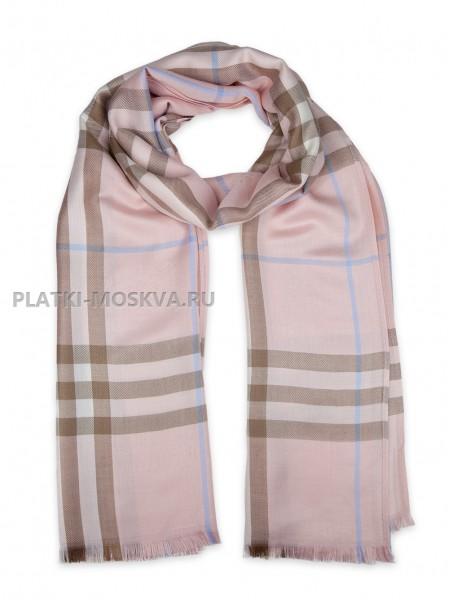 Палантин Burberry бледно-розовый 423