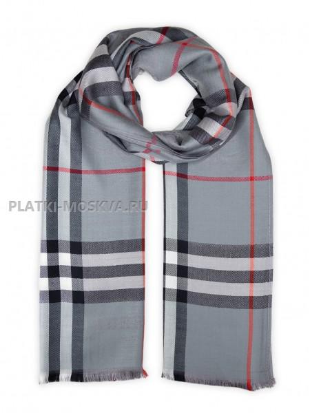 Палантин Burberry серый 417