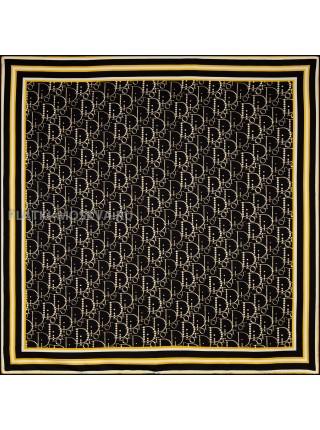 """Платок Dior шелковый черный с белым """"Полоска"""" 1868-90"""