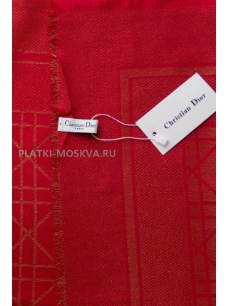 Платок Dior красный с золотом 2244-100