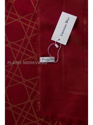Платок Dior бордовой с золотом 2245-100