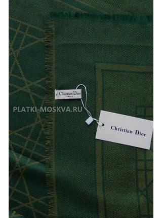 Платок Dior зеленый с золотом 2247-100
