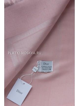 Платок Dior розовый с серебром 2210