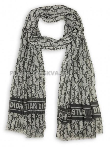 Палантин Dior серый 4114
