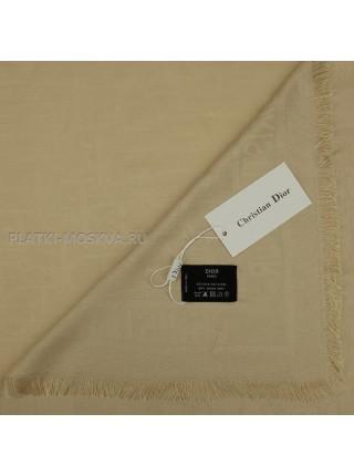 Платок Dior шерстяной бежевый 522