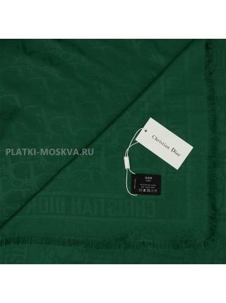Платок Dior шерстяной зеленый 527