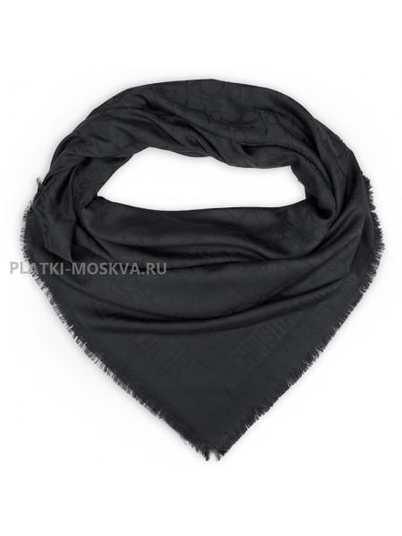 Платок Dior шерстяной темно-серый 524