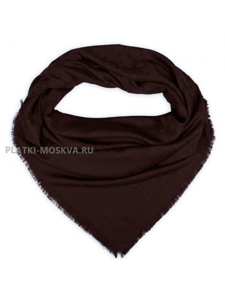 Платок Dior шерстяной коричневый 526