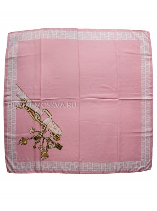 Платок Fendi шелковый ярко-розовый 3122