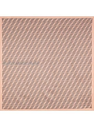 """Платок Fendi шелковый розовый """"Monogram"""" 3125"""