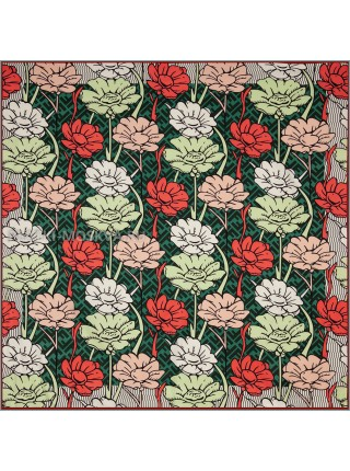 "Платок Fendi шелковый зеленый ""Flower"" 1860-90"