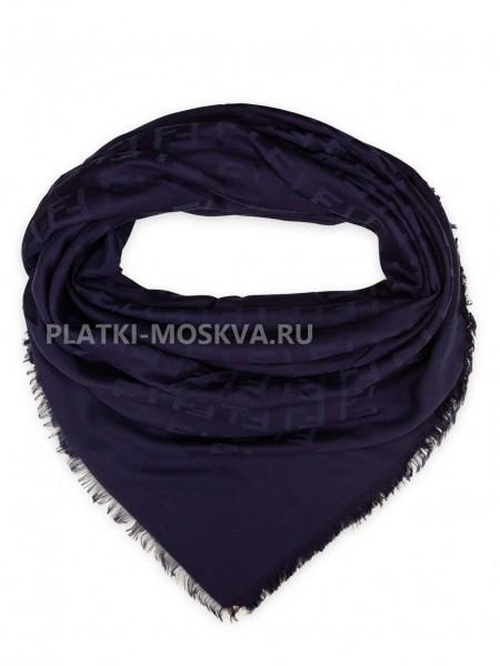 Платок Fendi шерстяной темно-синий 502-1