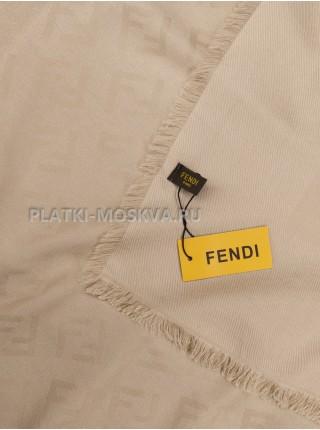 Платок Fendi шерстяной бежевый 504-1