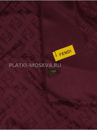 Платок Fendi шерстяной бордовый 512-1
