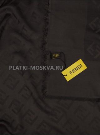 Платок Fendi шерстяной темно-серый 516-2