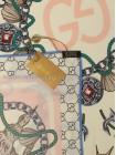 """Платок Gucci шелковый бежевый с розовым """"Морской"""" 1864-90"""