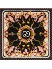 """Платок Gucci шелковый черный с белым """"Морской"""" 1865-90"""