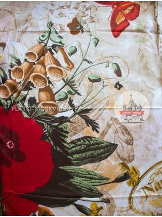 Платок Gucci шелковый светло-бежевый 628