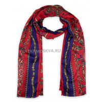 Палантин Hermes шерстяной красный 366-1