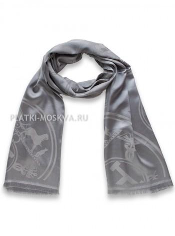Палантин Hermes серый 3041