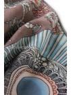 """Платок Hermes кашемировый серо-голубой """"Доспехи самурая"""" 3706"""