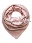 Платок брендовый  бледно-розовый с золотом 163