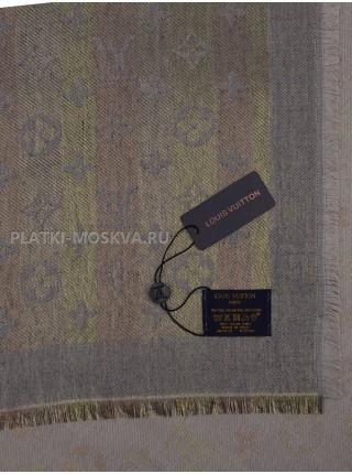 """Платок брендовый серый с золотом """"Хамелеон"""" 1093-140"""