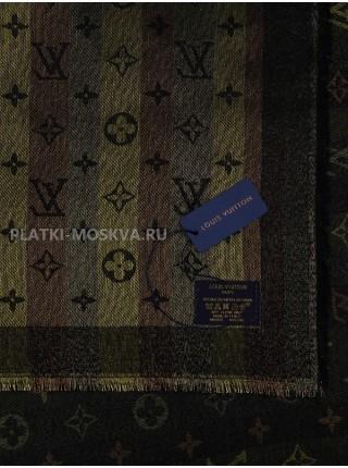 """Платок брендовый черный с золотом """"Хамелеон"""" 1081-100"""