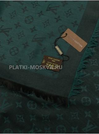 Платок брендовый зеленый с черным 1099