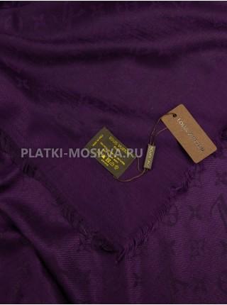Платок брендовый темно-фиолетовый 152