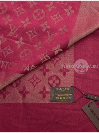 Платок брендовый бордовый с золотом 177