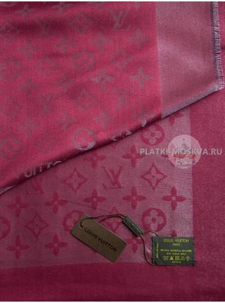 Платок брендовый бордовый с серебром 176