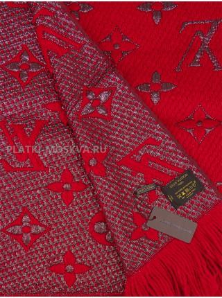 Шарф брендовый Logomania Shine красный 1050