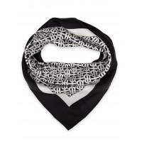 """Платок Burberry шелковый черный с белым """"Monogram"""" 1541-90"""