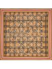"""Платок Burberry шелковый бежевый с красным """"Надписи"""" 1538-90"""