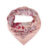 "Платок Fendi шелковый розовый ""Flowers"" 1551-90"
