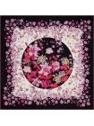 """Платок Fendi шелковый черный """"Flowers"""" 1550-90"""
