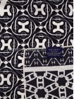 """Платок Hermes шелковый черный с белым """"Carre en Cravates"""" 1554-90"""