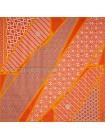 """Платок Hermes шелковый оранжевый """"Carre en Cravates"""" 1553-90"""