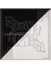 """Платок Hermes шелковый белый с черным двойной """"Лошадь"""" 1555-90"""