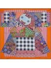 """Платок Hermes шелковый оранжевый """"L'Art du Sarasa"""" 1818-90"""