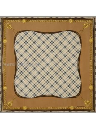 "Платок Burberry шелковый бежевый ""Square's"" 1537-90"