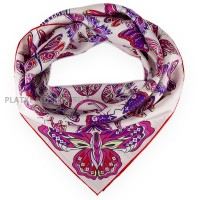 "Платок Louis Vuitton шелковый розовый ""World of Love"" 1510-90"