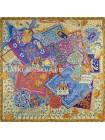 Платок Hermes шелковый бежевый «Всадники Кавказа» 1759-140
