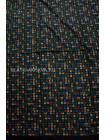 """Платок Hermes шелковый черный """"Логотипы"""" 1377-140"""